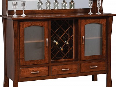 Woodbury Buffet w/ Wine Rack
