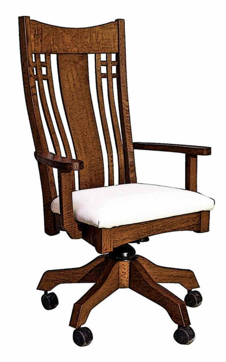 Larson Mission Desk Chair 203 1702a 39 Office Furniture Office Chairs Stone Barn Furnishings Inc