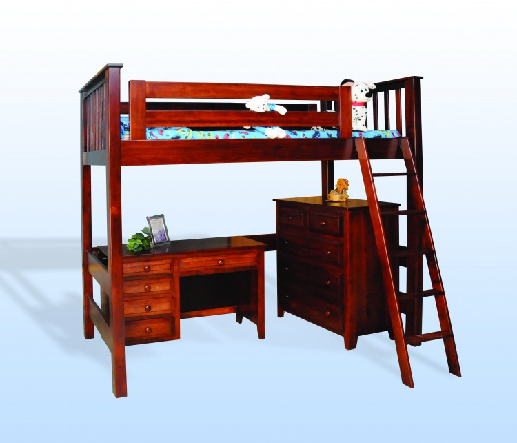 Open Loft Twin Bunk Bed