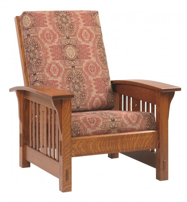 Mission Morris Chair : 225 2000C 85 : Upholstered Mission : Chairs And  Ottomans : Stone Barn Furnishings, Inc.