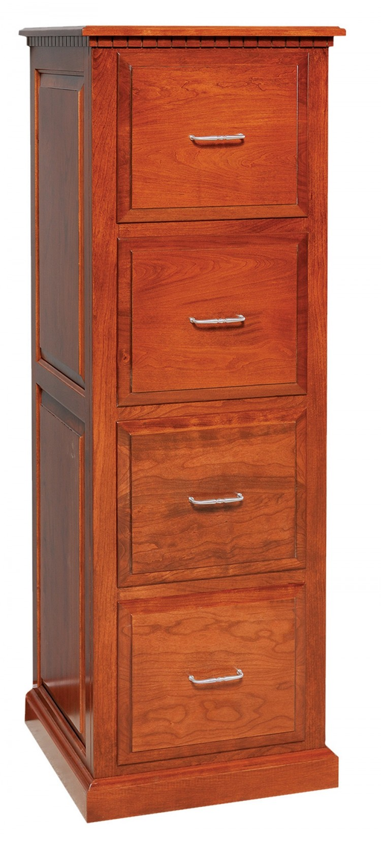 Traditional File Cabinet w/Raised Panel Sides