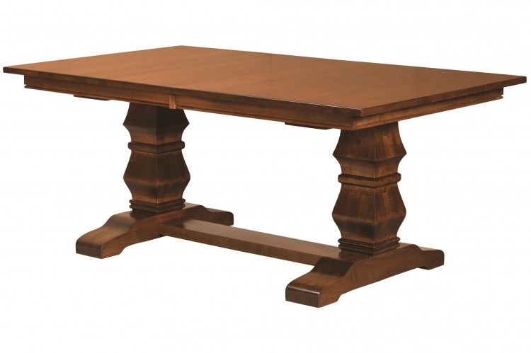 Dining Furniture Tables Double Pedestal Stone Barn Furnishings - Double pedestal trestle dining table