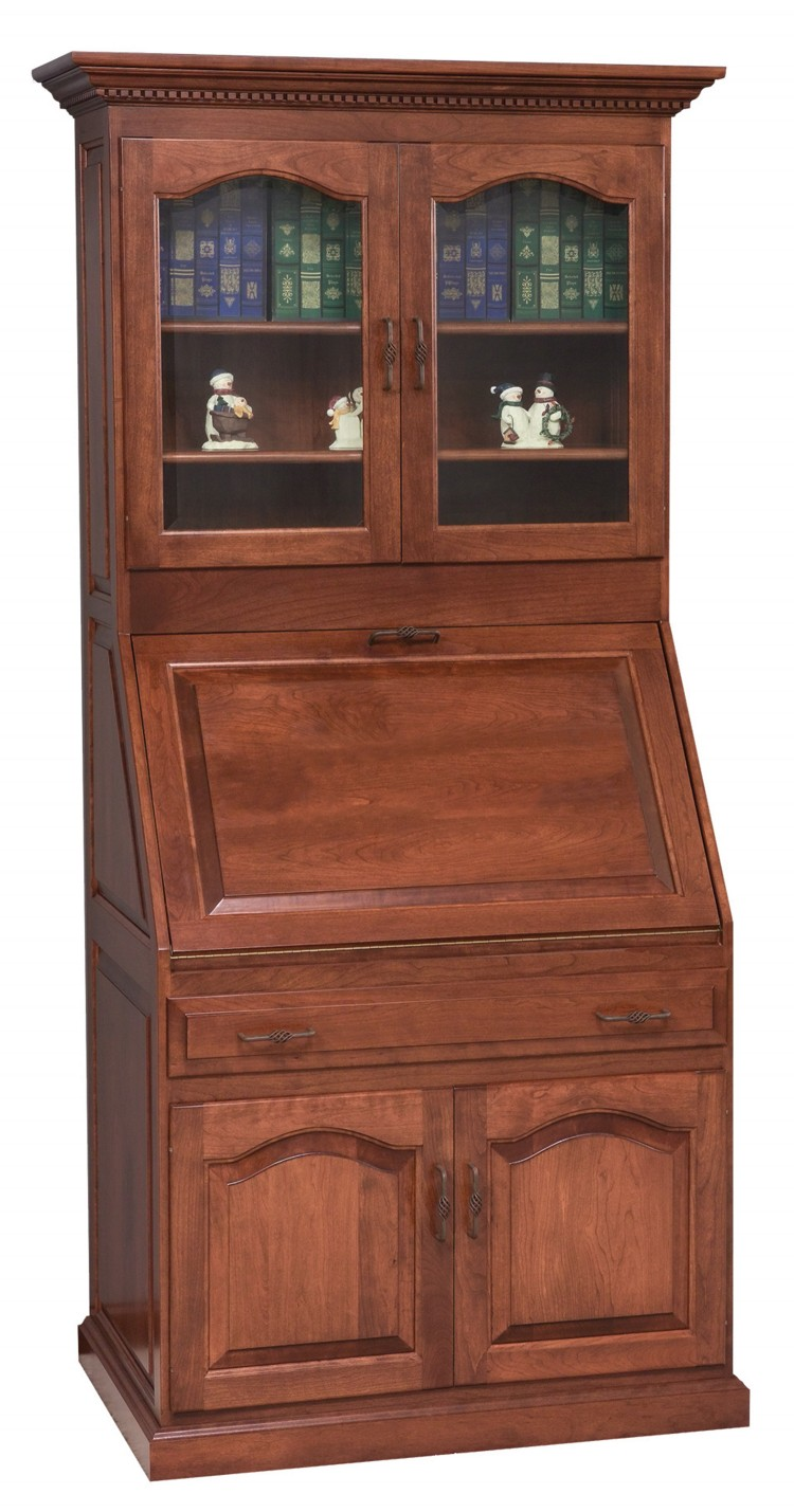 Executive Deluxe Secretary Desk w/Doors