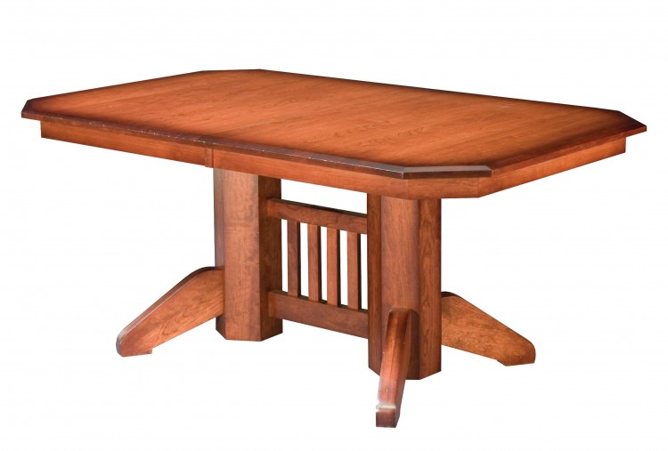 Mission Double Pedestal Table