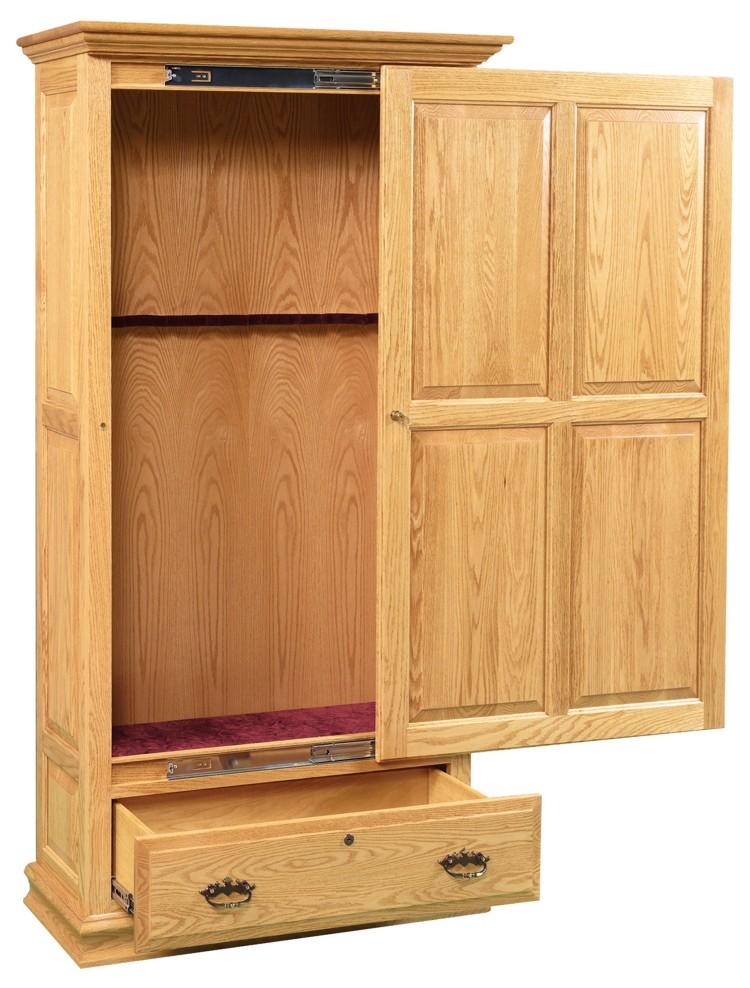 Wood Sliding Door Gun Cabinet 452 Go