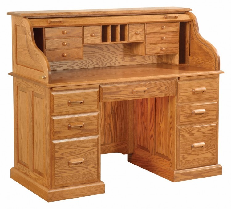 Regency Rolltop Desk with Base Trim