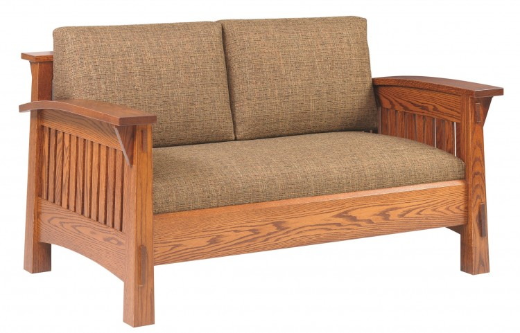 Country Mission Loveseat 225 4575l 85 Upholstered Sofa Stone Barn Furnishings Inc