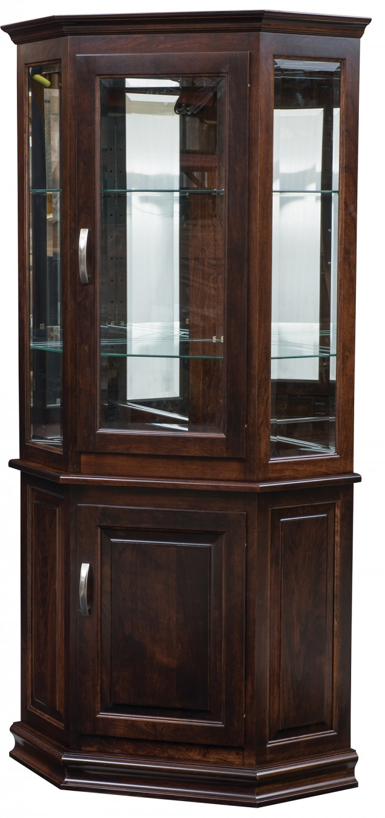 Corner Deluxe Curio with Enclosed Base