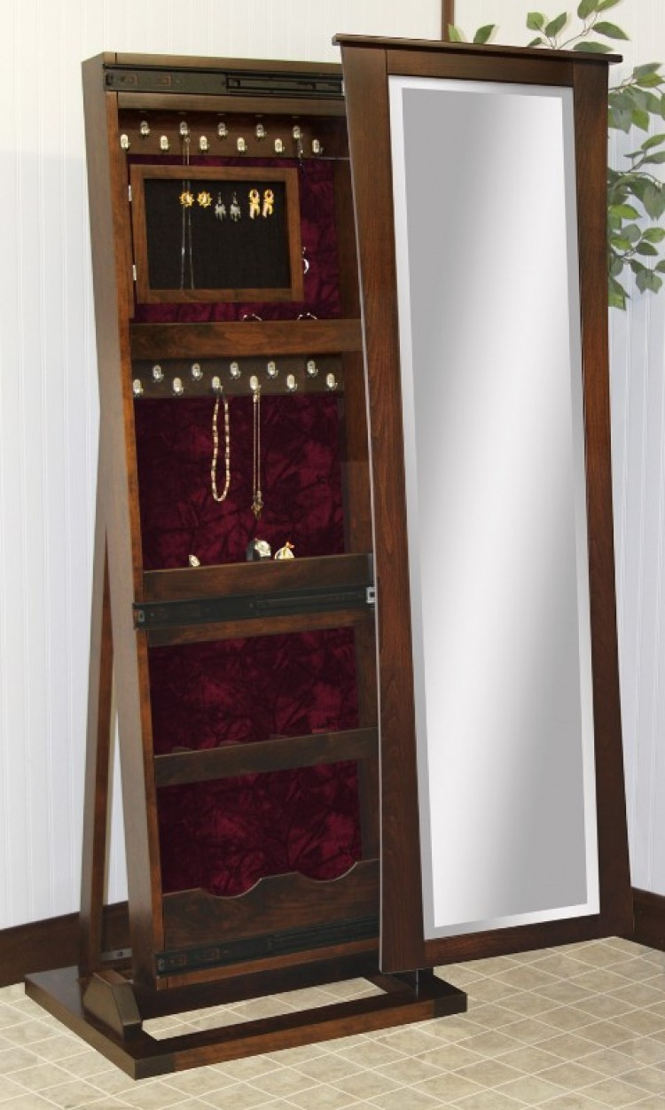 Trenton Shaker Jewelry Box Leaner Mirror
