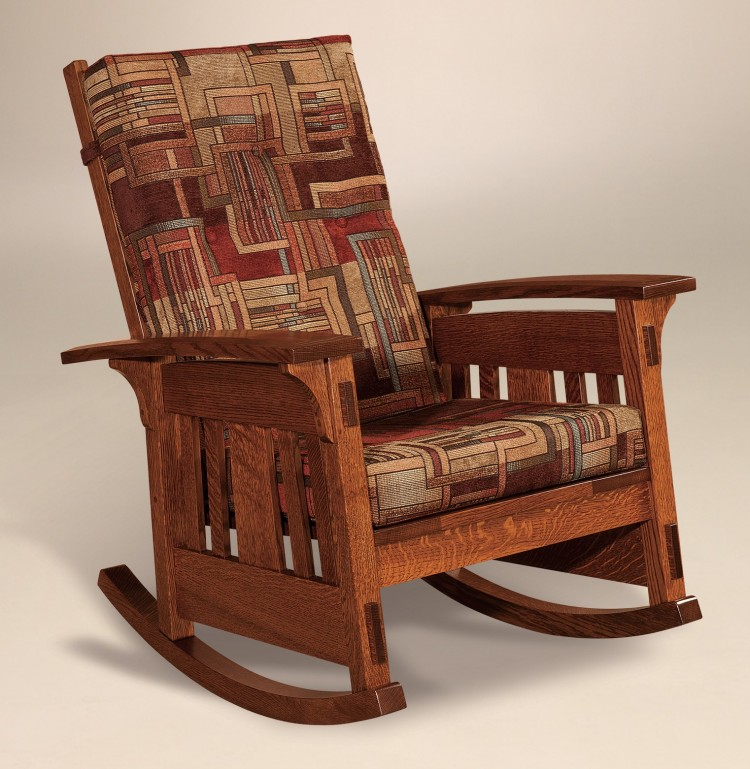 Mccoy rocker 225 960 mrof 117 upholstered mission for Stone barn furnishings