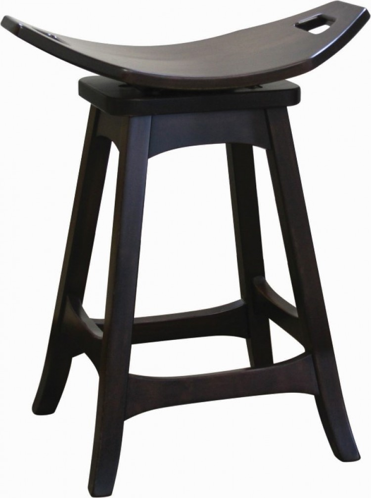Weston Saddle Swivel Barstool