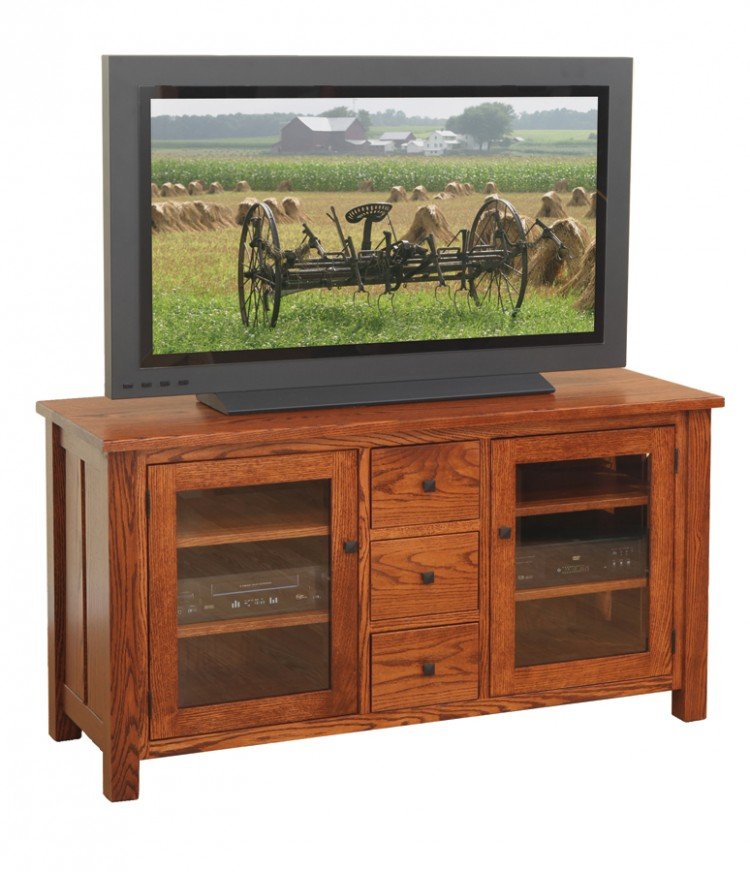 Canted Mission TV Stand