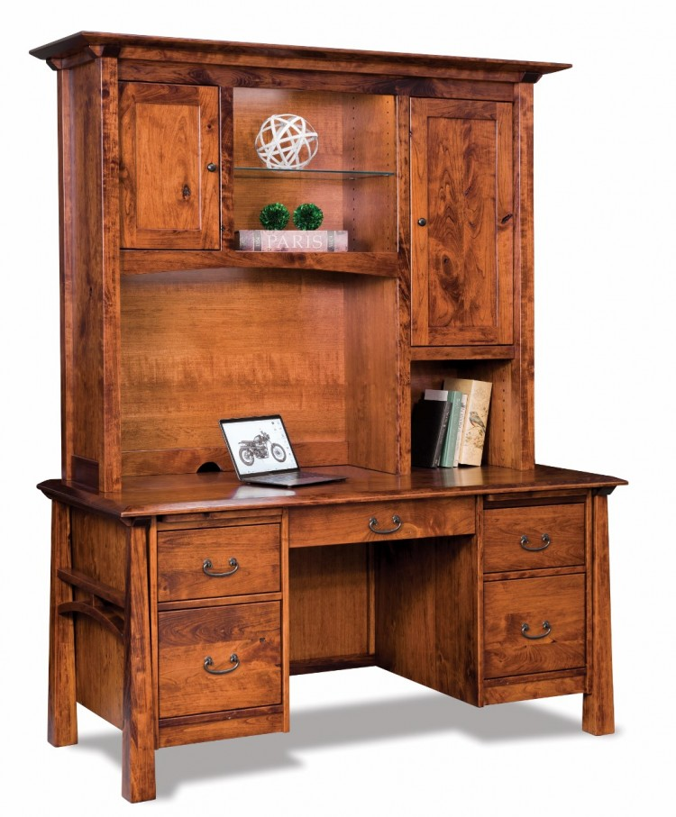 Artesa Double Pedestal Desk w/Hutch