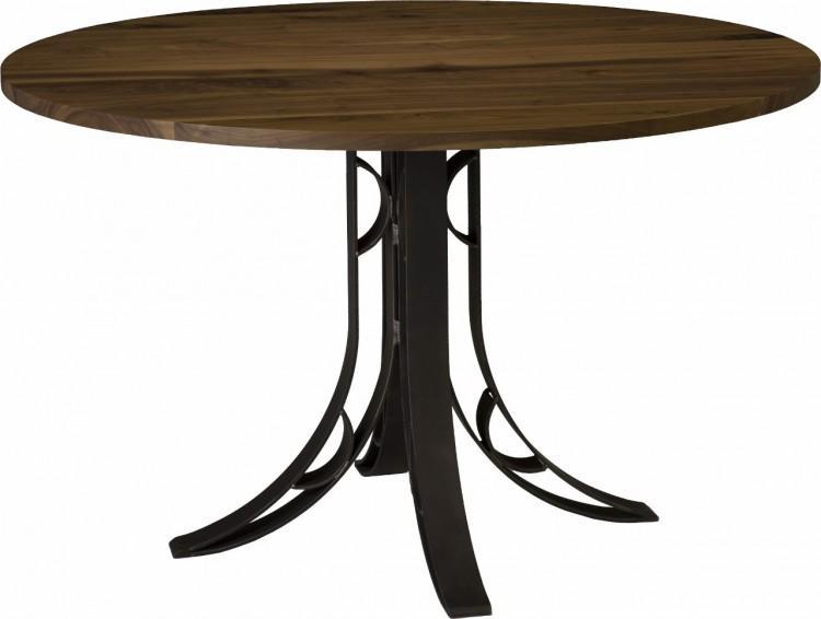 Yosemite Round Dining Table 101 Yose901 96 Dining Furniture Tables Stone Barn Furnishings Inc
