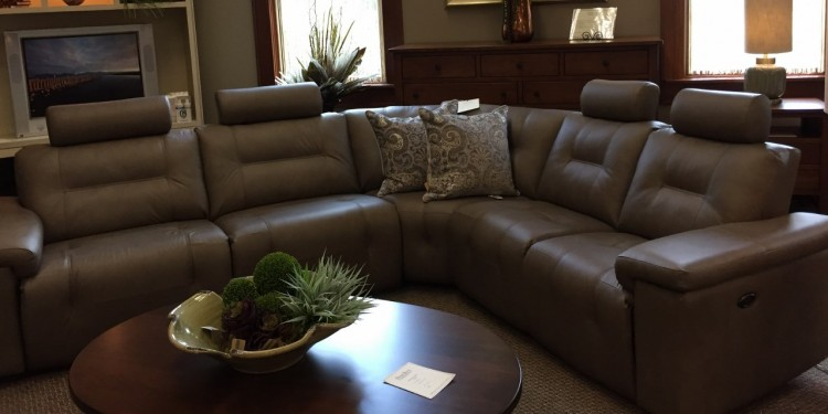 Axel Leather Condo Sectional