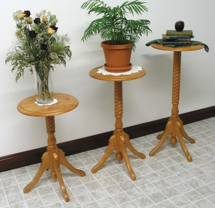 Rope-Twist Plant Stand