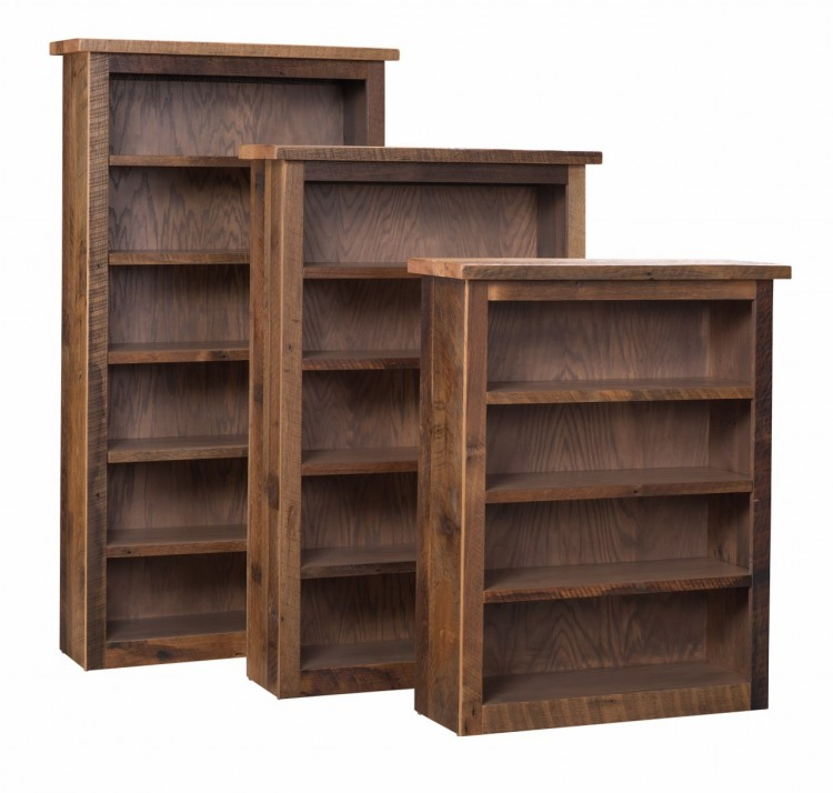 Barnwood Bookshelf 397 3648 148 Stone Barn Furnishings Inc