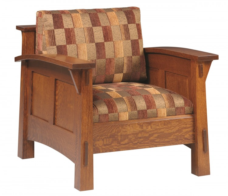 Country shaker chair 225 4675c 85 upholstered mission for Stone barn furnishings
