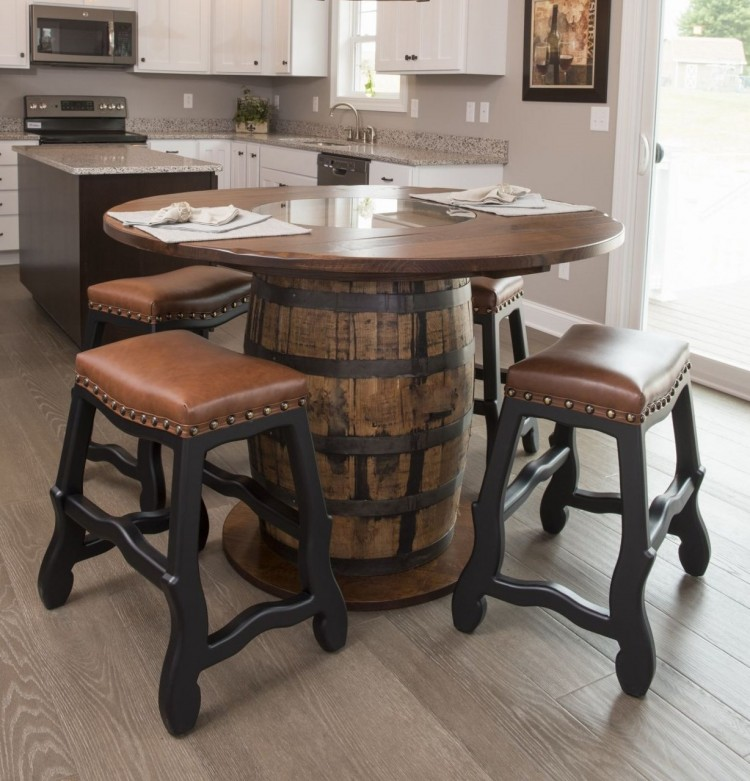 Whiskey Barrel Pub Table Choice Image Table Decoration Ideas