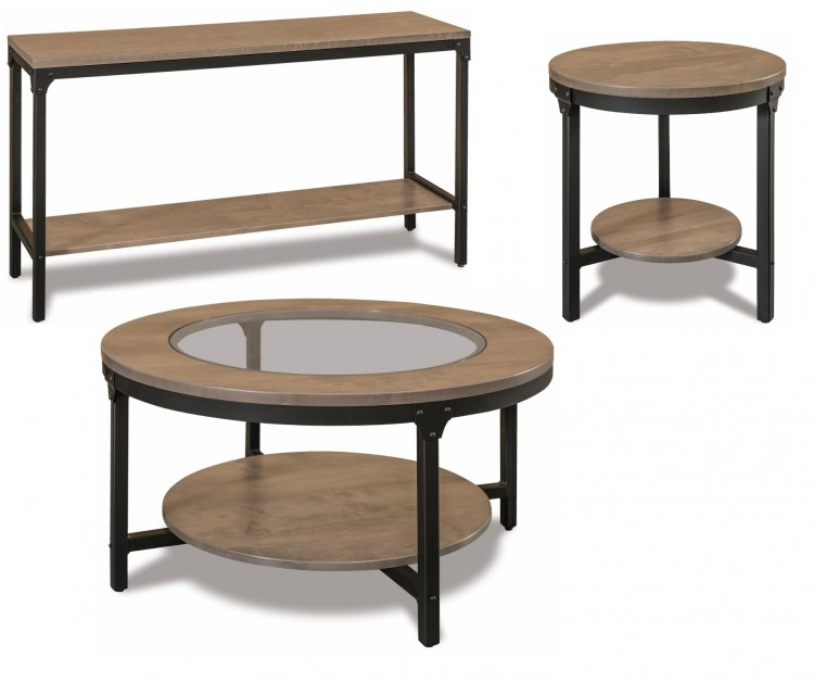 Timbra Steel & Wood Occasional Tables