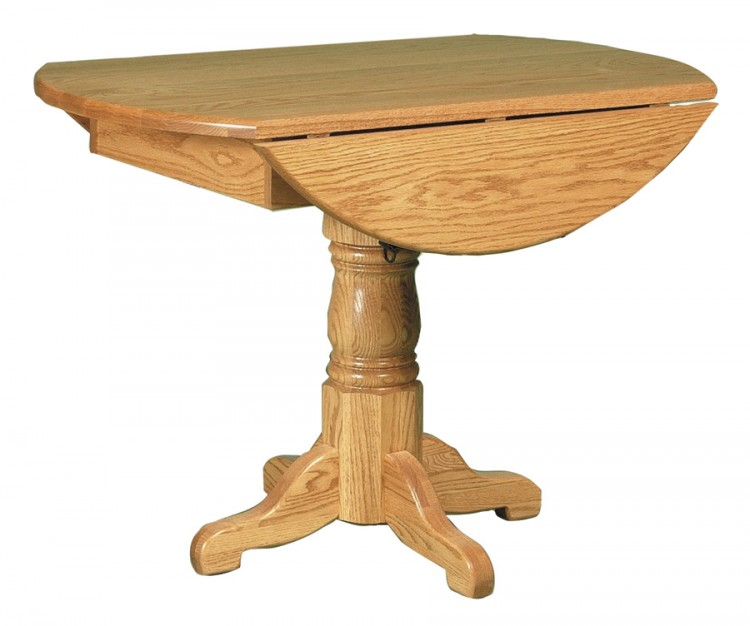 Country Pedestal Drop Leaf Table 112 124242rd 48 Dining Furniture Tables Stone Barn Furnishings Inc