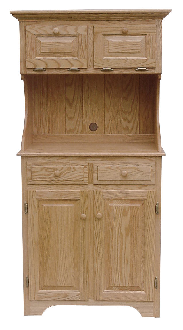 High back microwave cabinet 390 plw0087 88 o wood for Stone barn furnishings