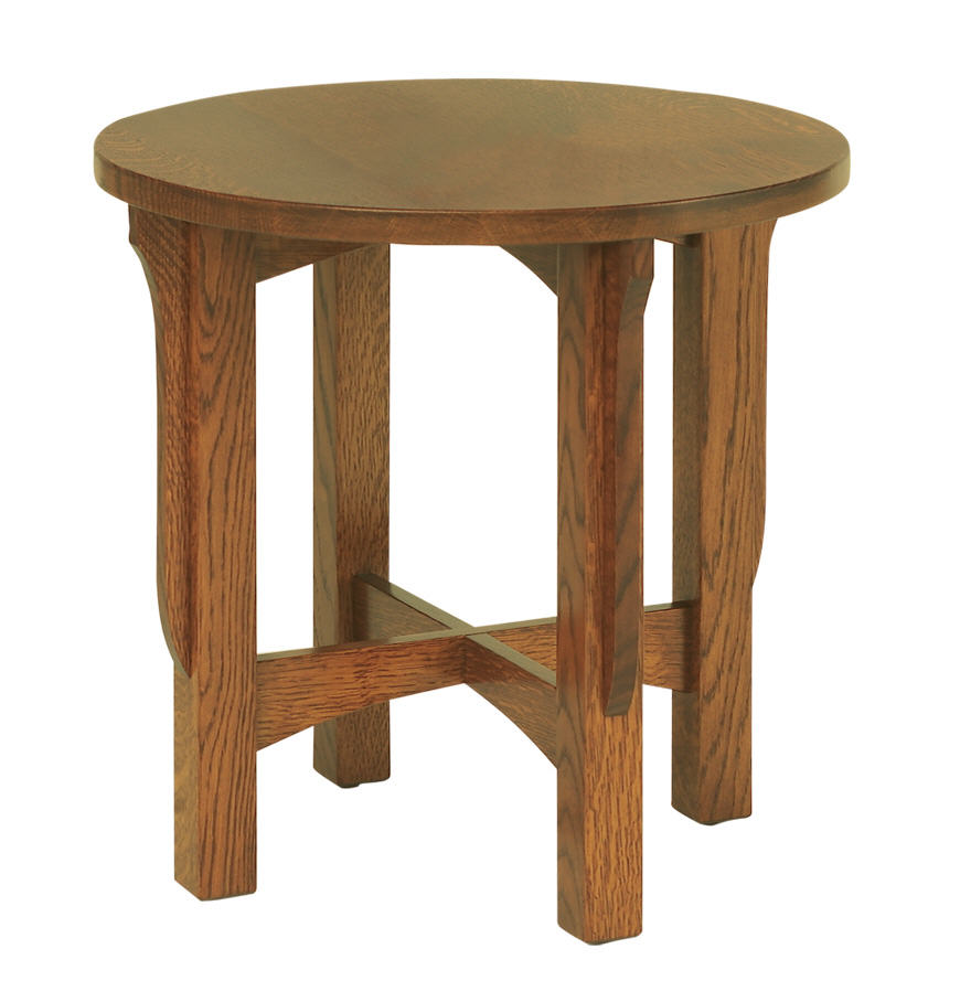 Landmark round end table 301 lm22rd 108 occassionals for Stone barn furnishings