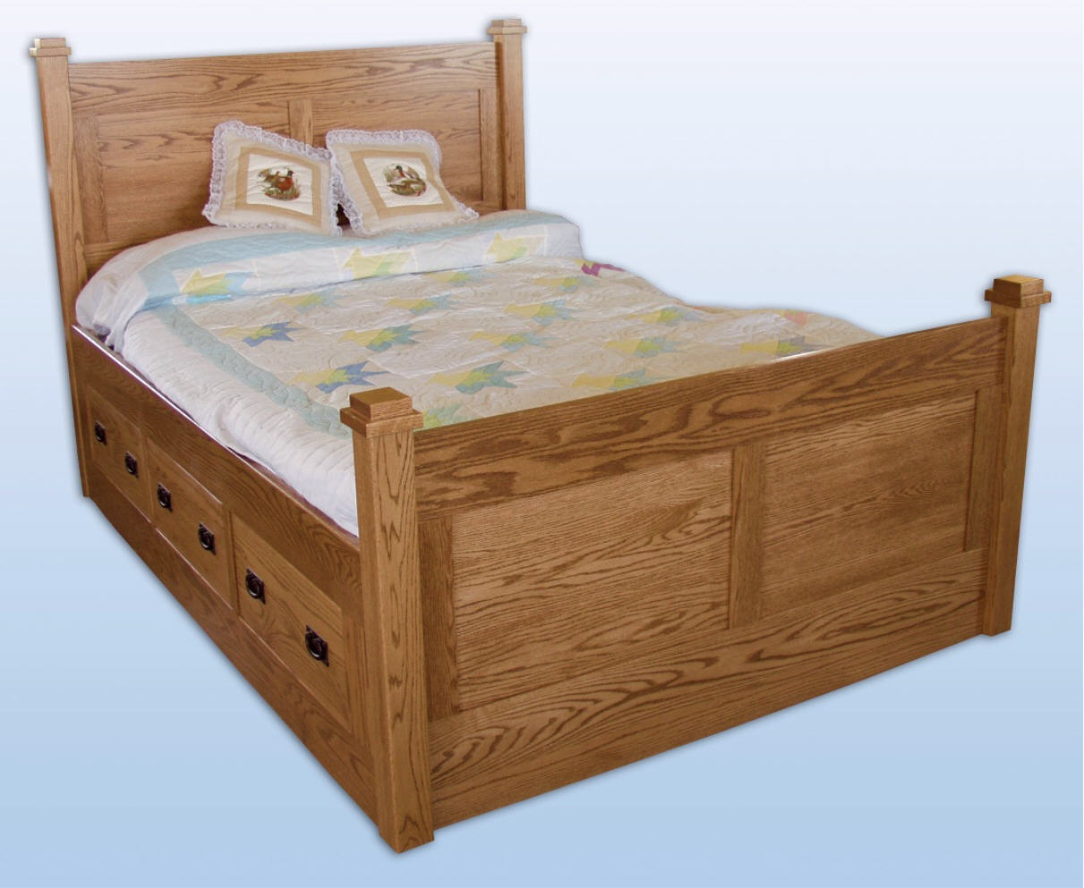 Deluxe storage bed 550 sb5533 100 bedroom beds for Stone barn furnishings