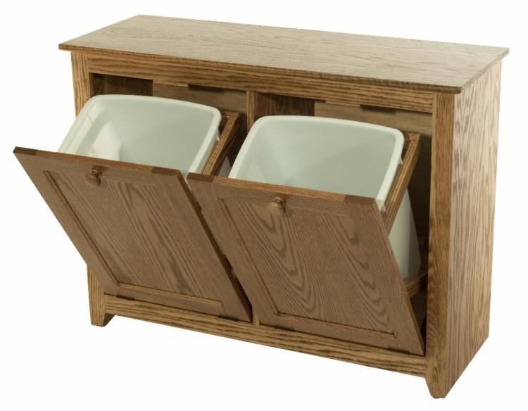 Double Tilt Out Waste Bin 390 W020800 103 O Wood