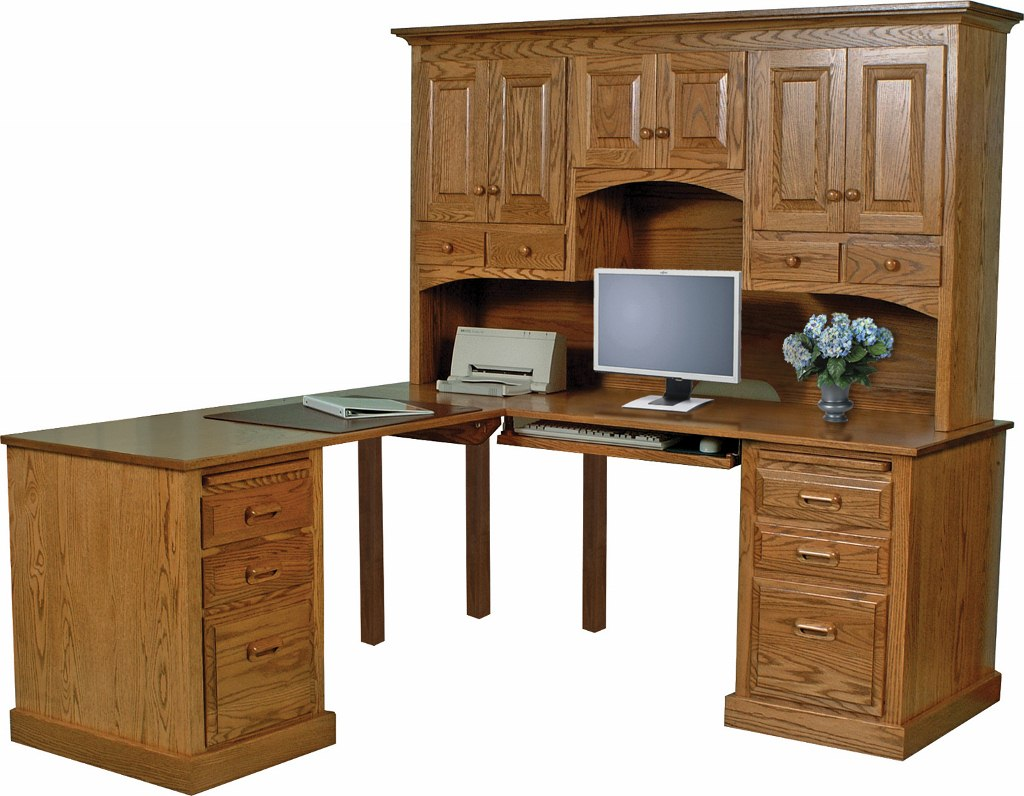Traditional Corner Computer Desk