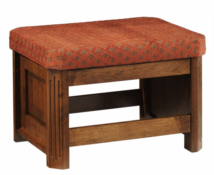 Franchi ottoman 227 14003 41 o upholstered mission for Stone barn furnishings