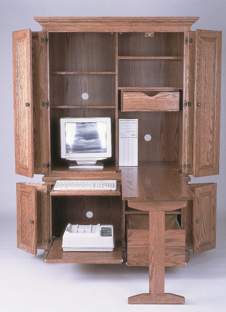 Deluxe Computer Armoire