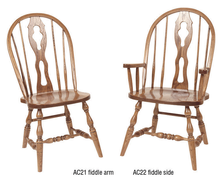 Fiddle Back Chair : 201 AC22 38 : Dining Furniture : Dining Chairs : Stone  Barn Furnishings, Inc.