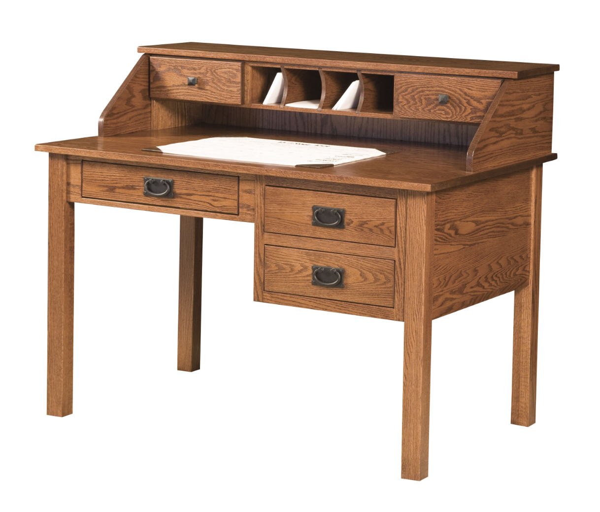 Mission Desk w/Paymaster Hutch