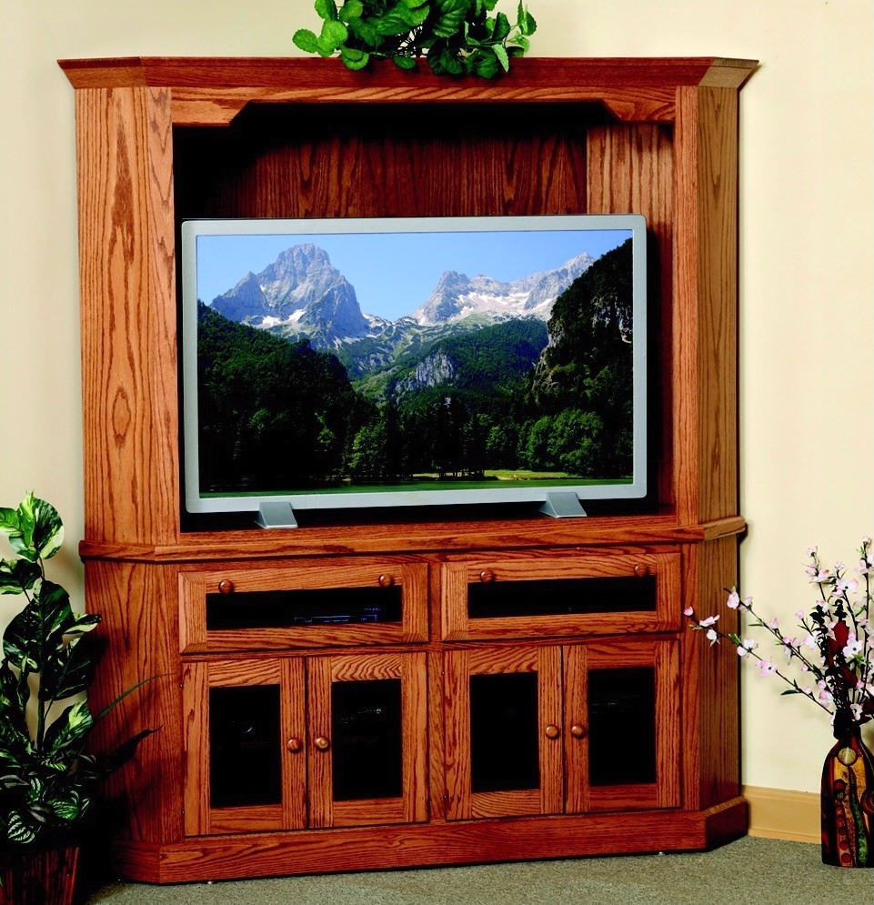 Corner HDTV Entertainment Center