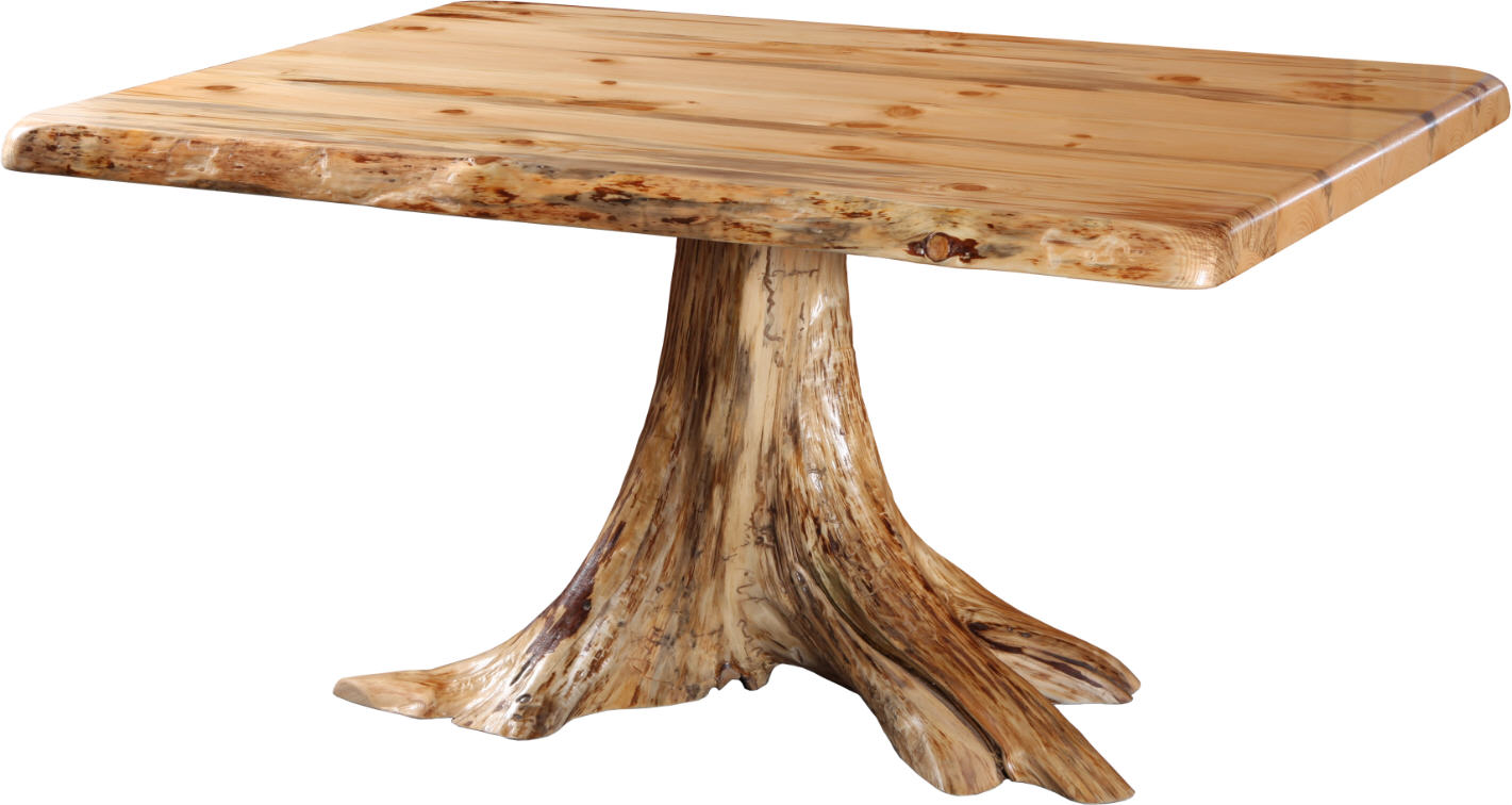Rustic Single Stump Table