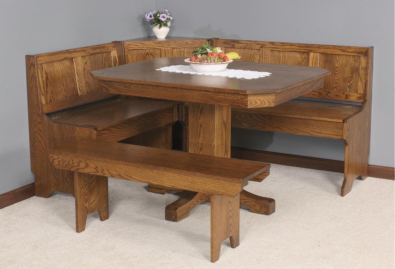 Mission Corner Nook Set : 108-3246-9 : Dining Furniture : Tables ...