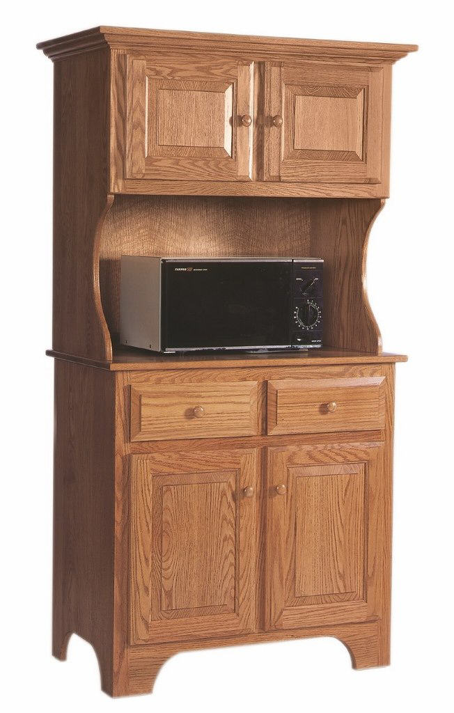 Microwave Cabinet With Hutch 390 Micrhut55 22 Wood Accents Cabinets Stone Barn Furnishings Inc