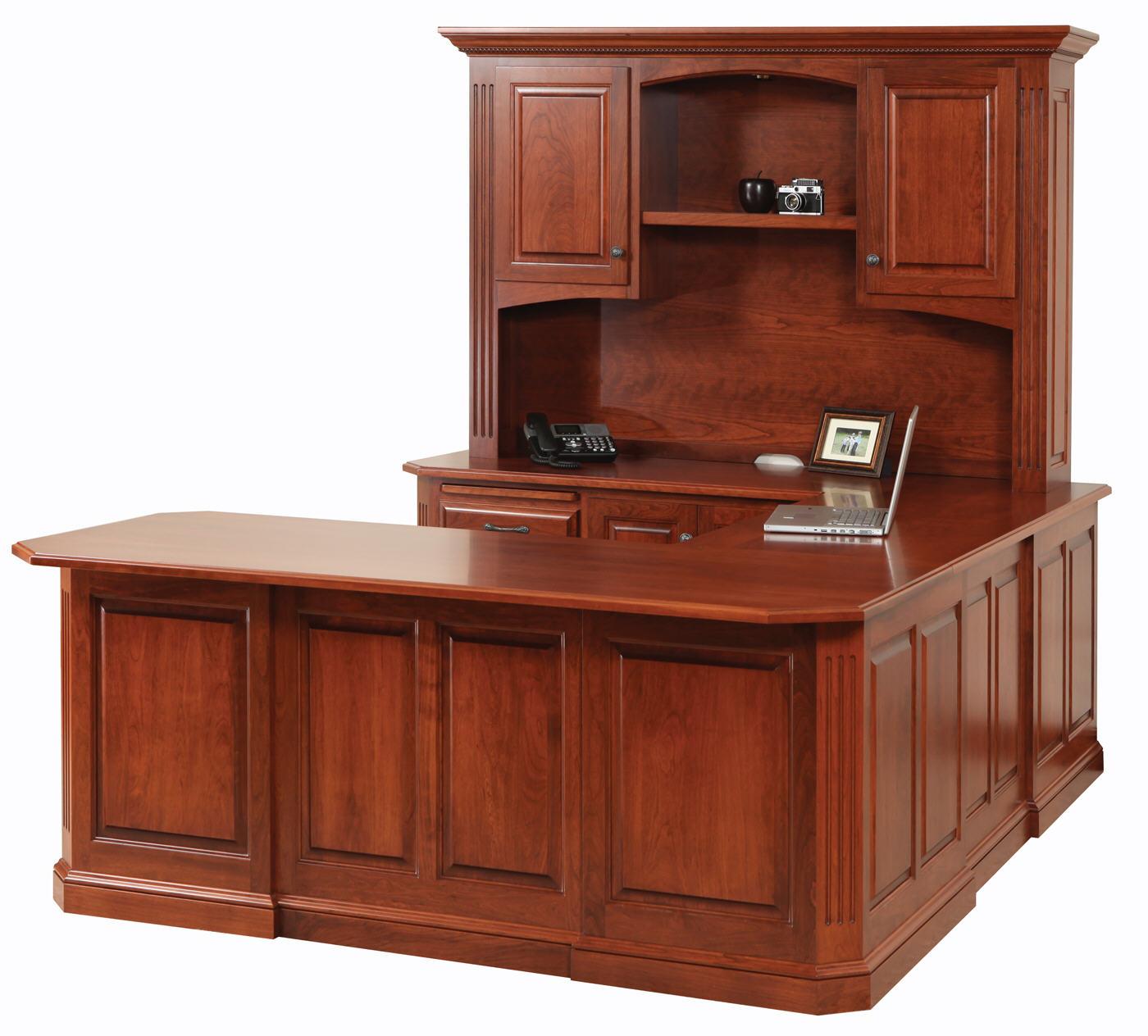Us Furniture Inc: Stanford U-Shape Desk W/Hutch : 451-STA122(112)-63