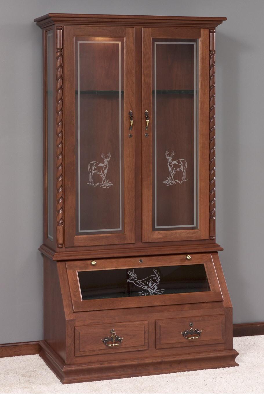 Gun Cabinet 452 3011 9 Wood Accents Gun Cabinets