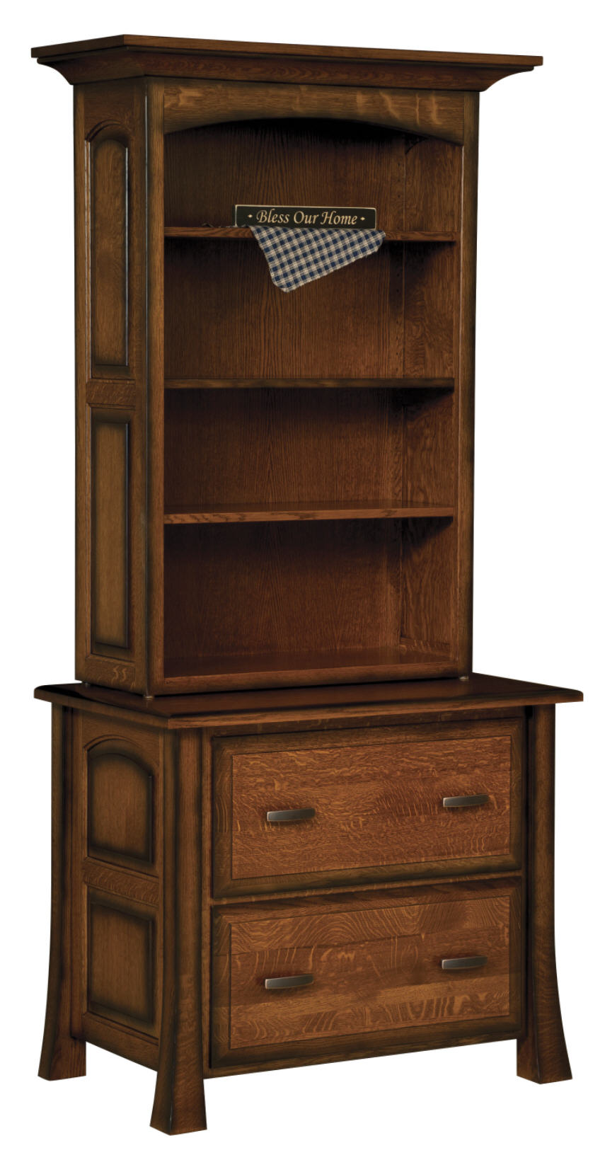 Olde Century Lateral File w/Bookcase