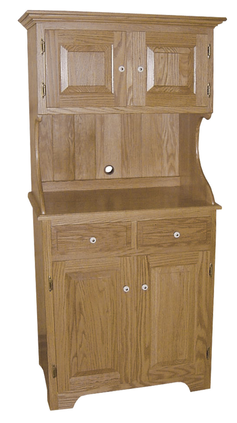 High back microwave cabinet 390 plw0136 88 o wood for Stone barn furnishings