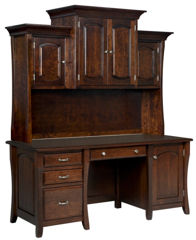Berkley Credenza Desk w/Hutch