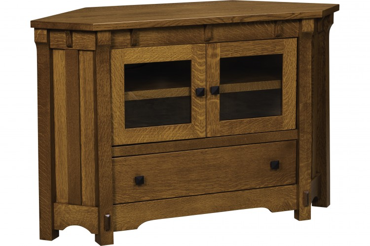 Manitoba corner tv stand 504 sc53cmanitv 116 for Stone barn furnishings