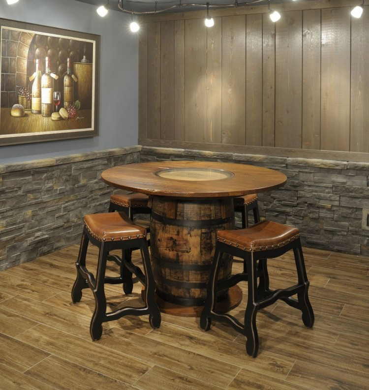 Whiskey Barrel Pub Table 103 Wsb54rd 138 Dining