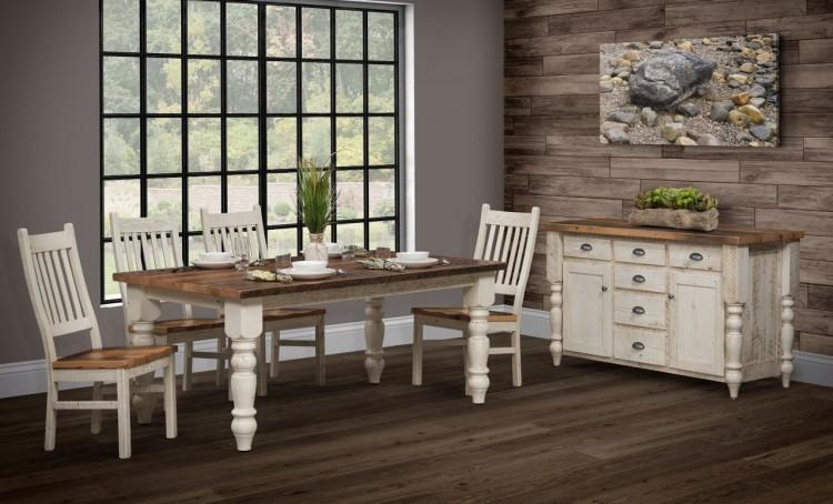 Farmhouse Dining Table 121 4272 148 Barnwood Stone Barn