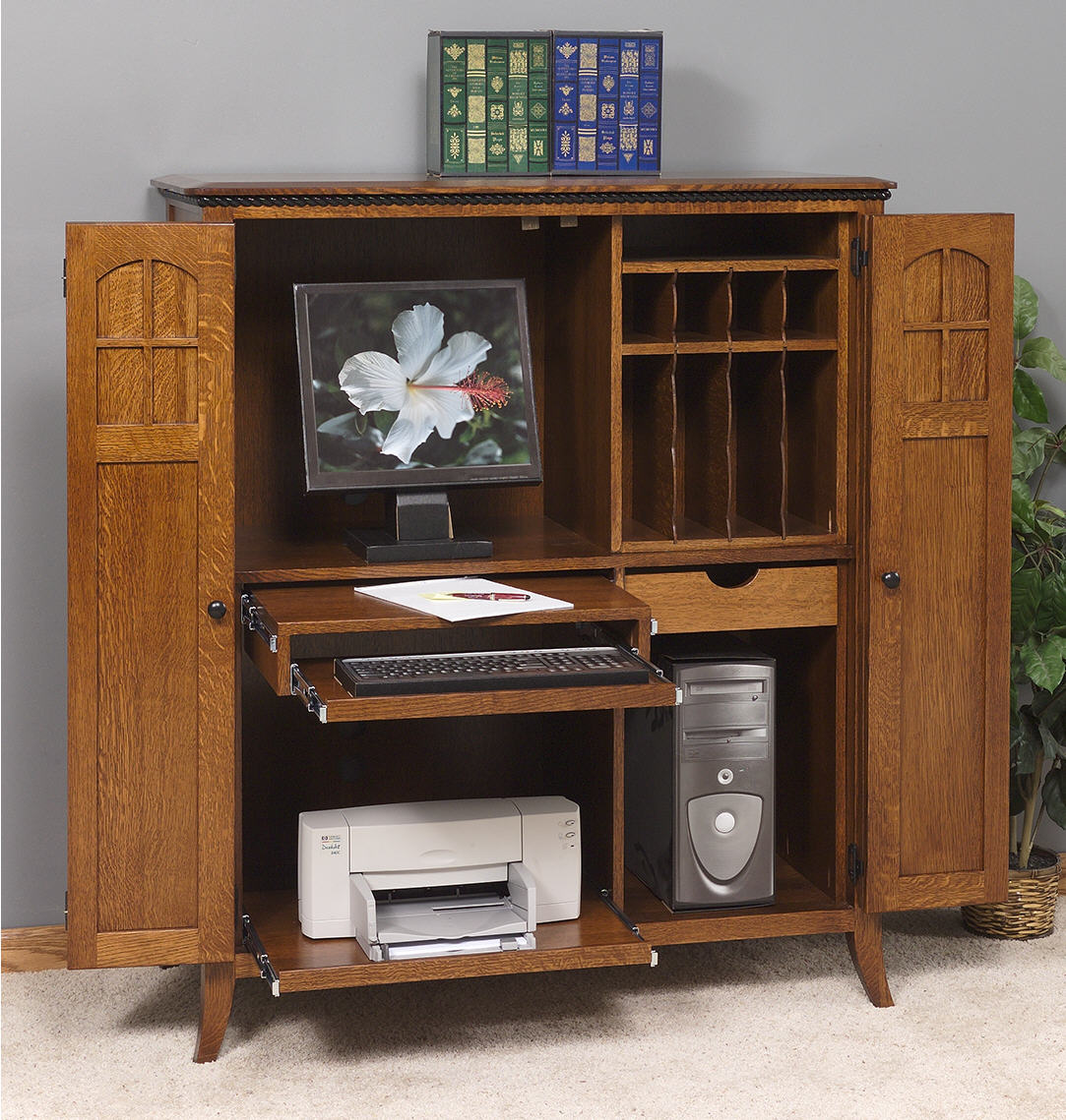 petite mt eaton computer armoire 452 3208 9 office. Black Bedroom Furniture Sets. Home Design Ideas