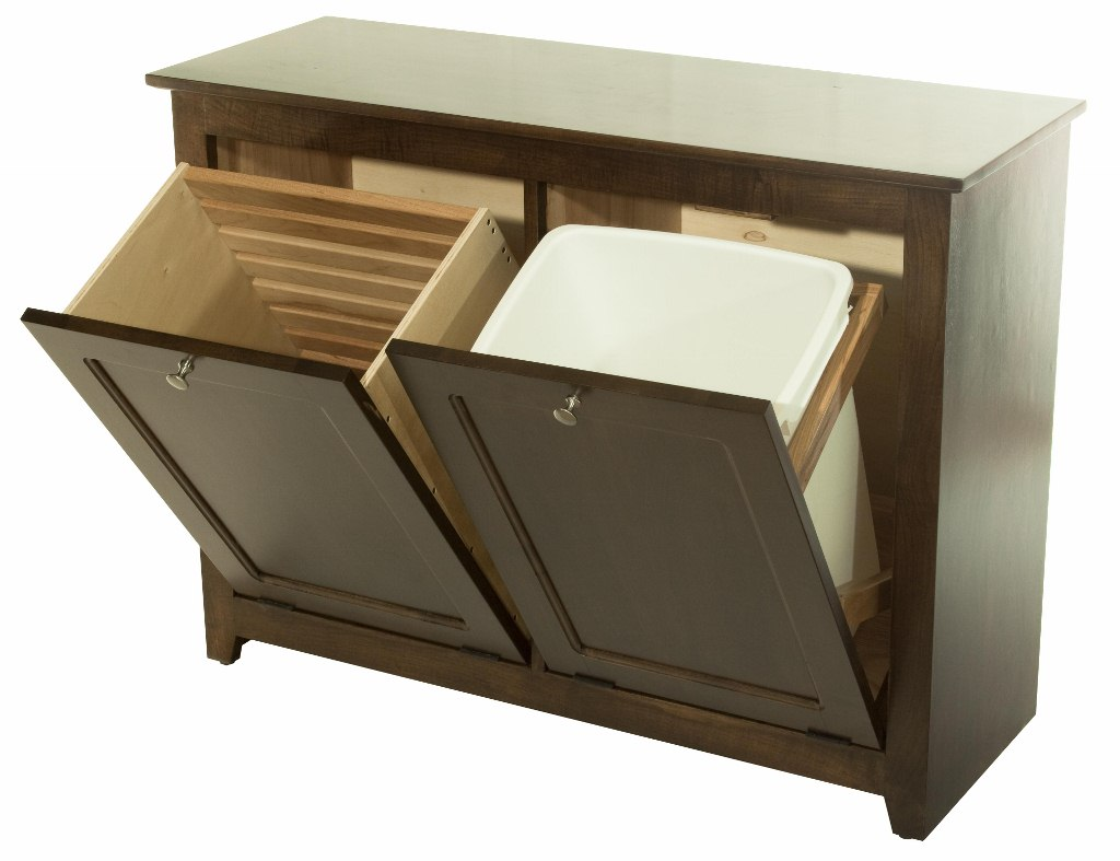 Genial Waste Bin/Hamper Tilt Out : 390 W02850 103 O : Wood Accents : Trash Bins :  Stone Barn Furnishings, Inc.