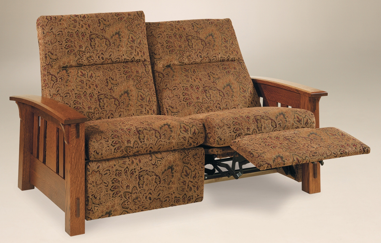 Mccoy loveseat recliner 226 930mlr 117 upholstered for Stone barn furnishings