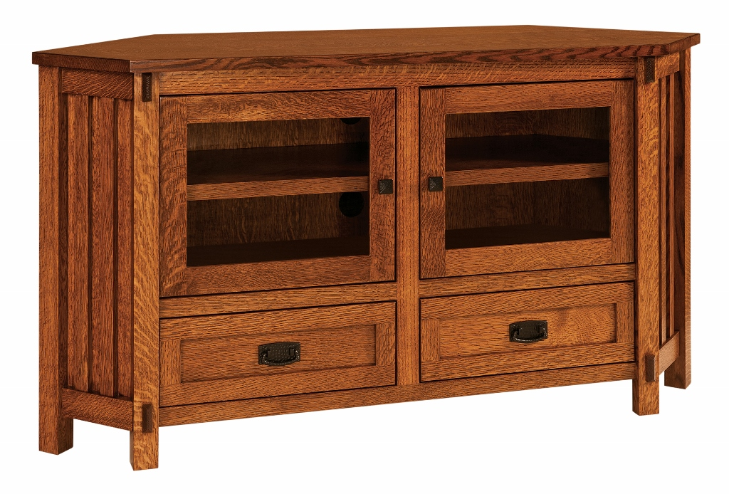 Rio mission corner tv stand 504 sc53crio 116 for Stone barn furnishings